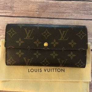 Louis Vuitton Sarah long bifold 8 slot card wallet